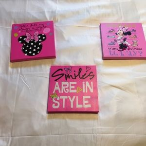 Minnie Mouse hanging pictures
